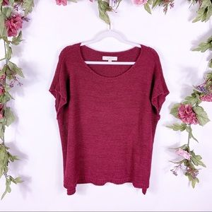 LOFT | maroon dolman sleeve knit sweater blouse